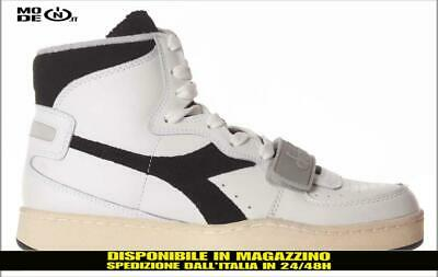 Scarpe Diadora MI Basket Used high sneakers heritage shoes pelle gomma  bianco ne a1d88790500
