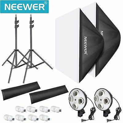 Neewer 1600W Photo Studio Video Softbox Lighting Kit with Stands,Softboxes,Bulbs