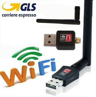 CHIAVETTA MINI USB WIRELESS PENNA ADATTATORE WI-FI PER PC MODEM ROUTER 600 Mbps