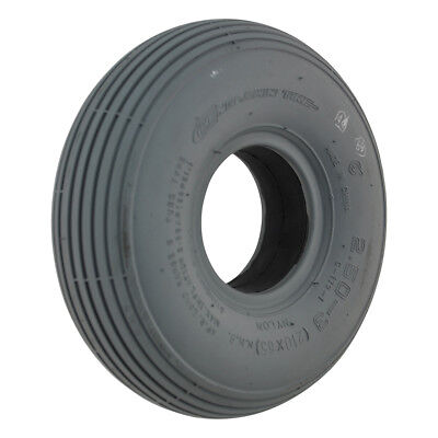 250 x 3 Grey Infilled / Solid Rib mobility scooter Tyre