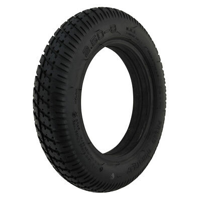 250 x 8 Black Infilled / Solid Durotrap mobility scooter Tyre
