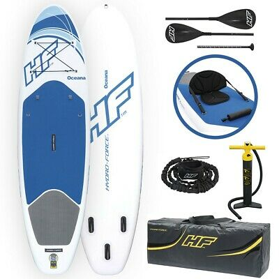"""Inflatable SUP Paddle Board 10ft Stand Up Paddleboard Kayak 6"""" Thick Hydro Force"""