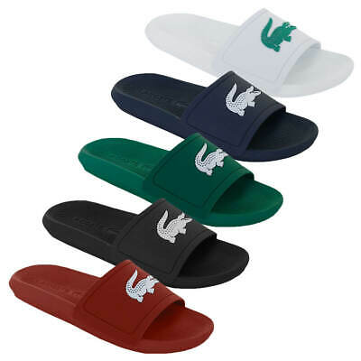 Lacoste Mens 2019 Croco Slide 119 1 CMA Water Repellent Synthetic Flip Flops