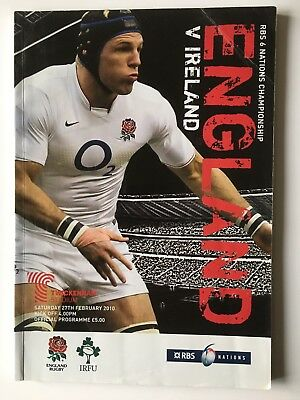 England v Ireland 2010 Six Nations Programme