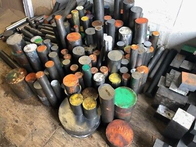 25Kg Large Job Lot Of Steel Round Bar Billet Engineering Lathe Milling