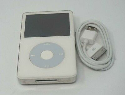 Used Working White Apple iPod Classic 5th Generation 30GB A1136 MP3 Player