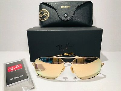 ac630e72eff Ray-Ban Chromance Polarized Sunglasses Rb3587Ch 001 10 Mirror Lens Fast  Shipping