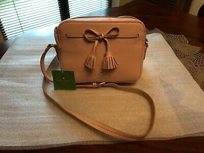 258 Nwt Kate Spade Arla Warmvellum Hayes Street Leather Crossbody Bag  Pxru9166 a1868facd0