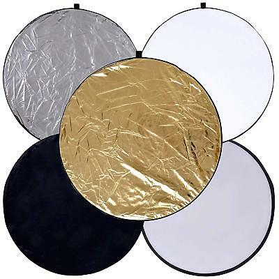 PK 5 In1 24 Inch 60cm Photography Studio Photo Collapsible Soft Light Reflector