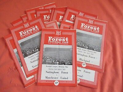 Nottingham Forest FC Football Programmes - 1964/65.  14 Home Games.