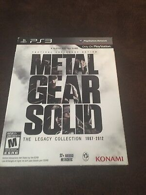 metal gear solid the legacy collection ps3 With Art Book