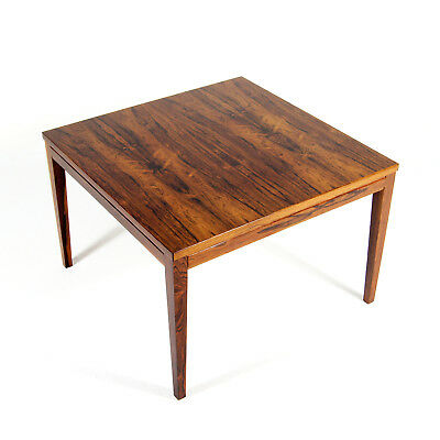 Retro Vintage Danish Rosewood Large Side Coffee Table 60s 70s Mid Century Modern