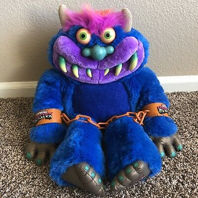 My Pet Monster 2001 Talking Stuffed Animal With Handcuffs Chains