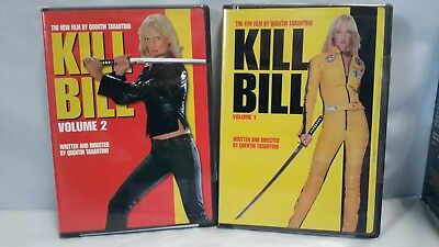 Kill Bill Vol. 1 & Kill Bill Vol. 2 (2- Disc DVD, 2004, Widescreen)   [122E]