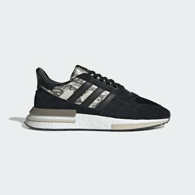 20b0997ff Adidas Originals ZX 500 RM Black Snakeskin Lifestyle Sneakers Boost New  BD7924