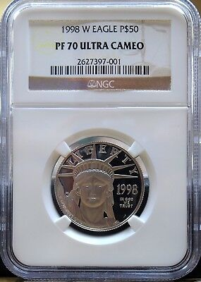 1998-W Platinum $50 American Eagle NGC PF70 Ultra Cameo  - Z - XYPP