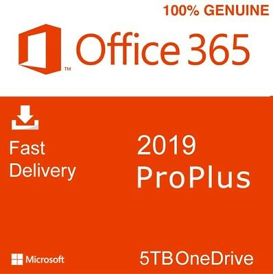 Office 2019 365 Professional Plus with 5TB OneDrive | 5 Devices
