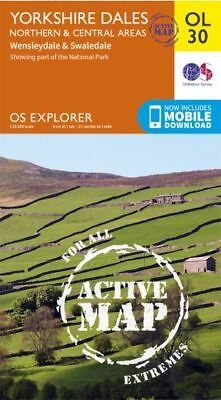 OL30 Yorkshire Dales Northern & Central by Explorer LAMINATED ACTIVE