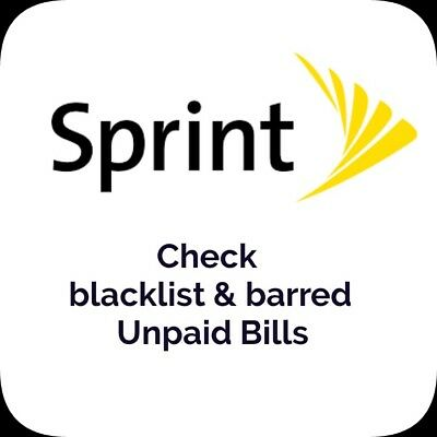 Sprint USA IMEI check (Clean/Blocked/Unpaid Bills)-PRO [SPCS:YES or SPCS:NO]