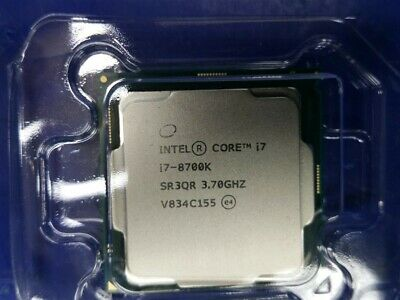 Intel Core i7-8700K CPU 12M Cache 3.70GHz Socket 1151 6 Cores/12 Threads