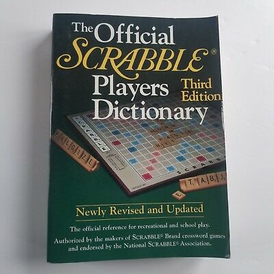 The Official SCRABBLE Players Dictionary (1995,HCDJ, 3rd edition)