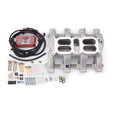 Edelbrock 7518 Performer RPM Dual Quad Intake W/Timing Control For Chevy GM LS1