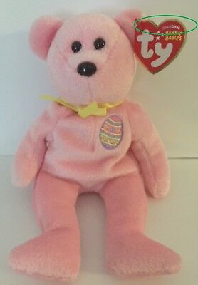 b13f6dcea99 Ty Beanie Baby EGGS the EASTER BEAR with TAGS ~ RETIRED 2008 ~ERRORS