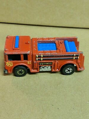 Vintage Hot Wheels 1976 BW Fire-Eater Flying Colors Fire Truck