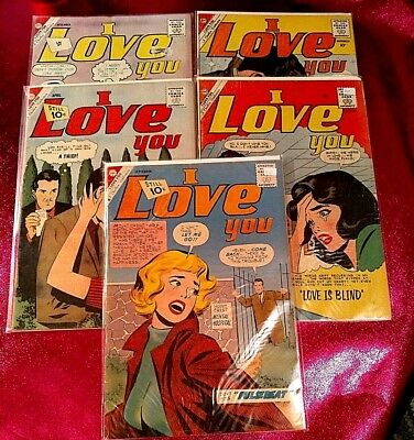 I LOVE YOU CDC CHARLTON ROMANCE COMIC  No 31,32,36,39,43