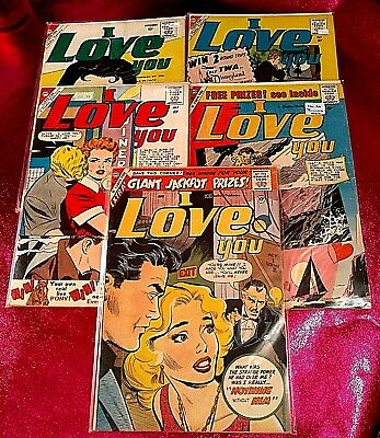 I LOVE YOU CDC CHARLTON ROMANCE COMIC No 23,26,28,29,30