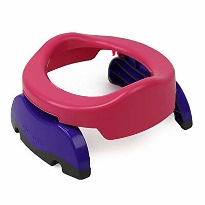 Potette Plus 2-in-1, Folding Travel Potty Toilet Trainer Seat, Pink/Purple