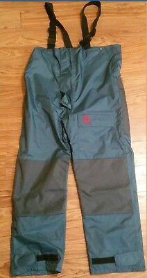 340e0a7361bab Navis Marine Coastal Bib Pants Fishing Rain Suit Foul Weather Size Small