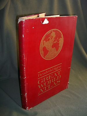 1963 Reader's Digest GREAT WORLD ALTAS First Edition Hardback with Dust Jacket