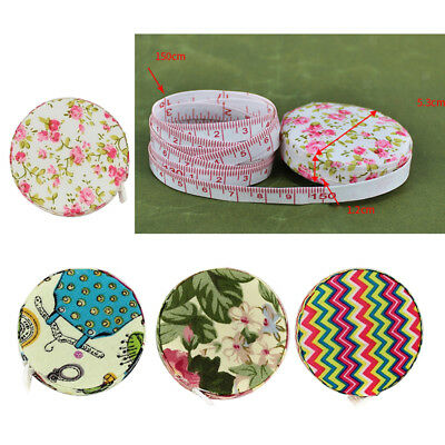 4Pcs Fabric Colorful Retractable Ruler Soft Tape Measure Pocket Sewing Tools