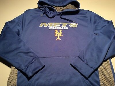 New York Mets Majestic Authentic Collection Therma Based Hoodie - Size Men's XL