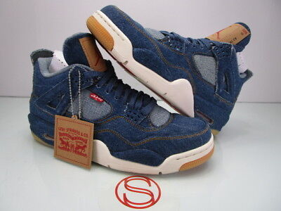 da0d747f98f9 NIKE AIR JORDAN IV 4 Retro LEVIS DENIM 10 -  480.00