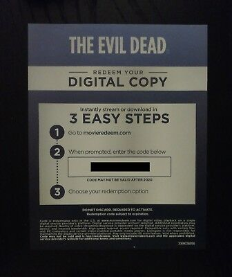 The Evil Dead 1981 Digital Code From 4k UHD Blu-ray Movies, Code Only - No Discs
