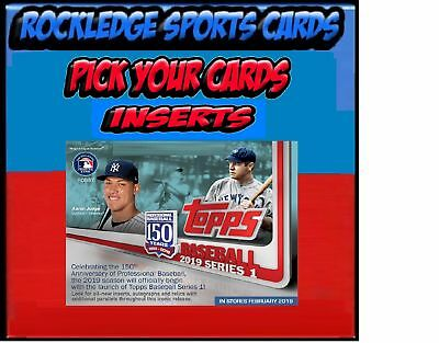 2019 Topps Series 1 Baseball Inserts (Pick Your Cards)