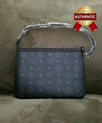 733c661d48bc NEW Authentic MCM Pouch Clutch Black from reversible shopper tote set