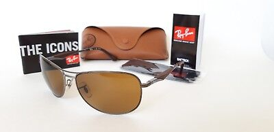 40c1fc954ccb5 Ray-Ban RB3519 029 83 62-15 140mm Large Square Aviator Sunglasses GUNMETAL