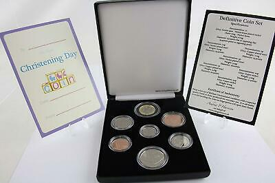 2019 Christening Royal Mint Deluxe Cased 7 Coin Definitive Set CofA