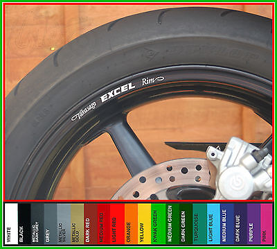 8 x TAKASAGO EXCEL RIM Wheel Rim Decals Stickers - With choice of 20 colours
