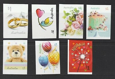 AUSTRALIA 2019 - MOMENTS to TREASURE set of 7 x $1 P&S MNH - Self Adhesive