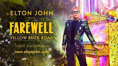 ELTON JOHN Farewell Yellow Brick Road tour poster replica magnet - new!