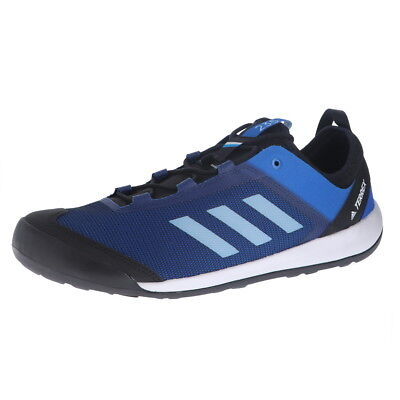 8cb16fc1a Adidas Terrex Swift Solo Blue Beauty Grey One Bright Bl Mens Outdoors Shoes  14M