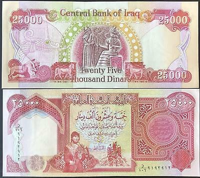 Iraqi Dinar (1) 25,000 Note Uncirculated!! Authentic! Iqd!@
