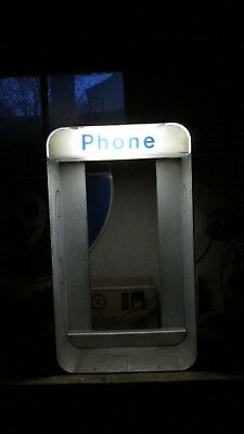 Vintage Lighted Payphone Booth Enclosure Gte Pay Phone Ma Bell Phone