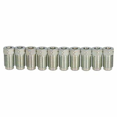"Steel Male Brake Pipe Union Fittings 7/16 x 20 UNF for 3/16"" Brake Pipe 10pc"