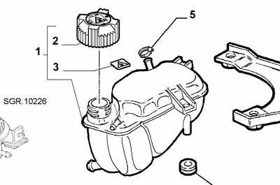 fiat seicento water tank new and genuine 51778218