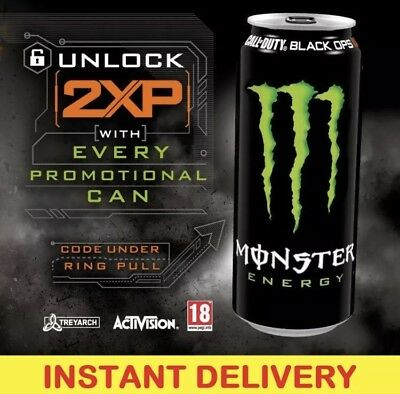 CALL OF DUTY Black Ops 4 DOUBLE XP Code For 15 MINS COD 2XP Monster Energy BO4